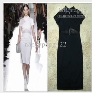 Wholesale Party Dress - Buy Promotion 2013 New Hollow Out Women's Elegant Dresses Black Color Fashion Slim Short Sleeve Female Plus Size Socialite Clothes Zipper Dress, $22.02 | DHgate