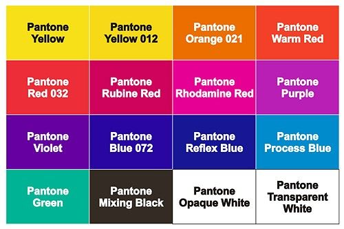 Pantone Purple And Violet And Magenta Rhodamine Red
