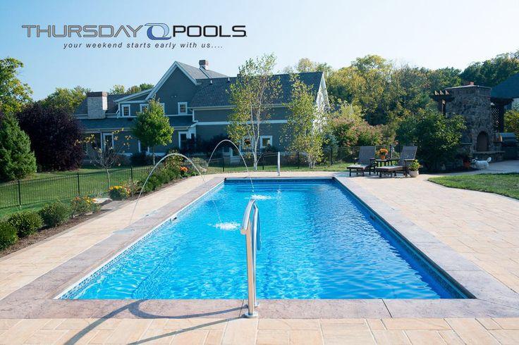 spirit perfect lap fiberglass pool manufacture by thursday pools