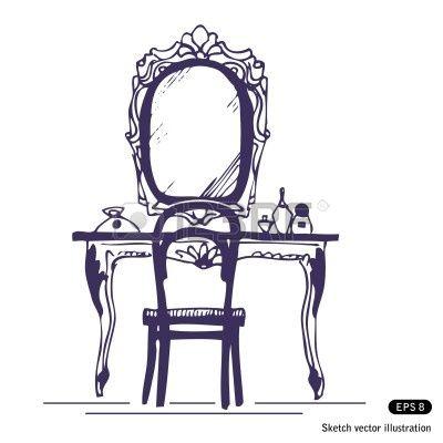Victoriaans Spiegeltafel Dressing TablesDressing RoomsStock IllustrationsDressingsClip ArtTheatreRoyaltyMirrorFinancial Statement