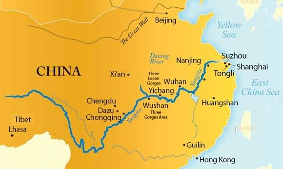Rivers Map Of China.Yangtze River China China In 2018 River Map China