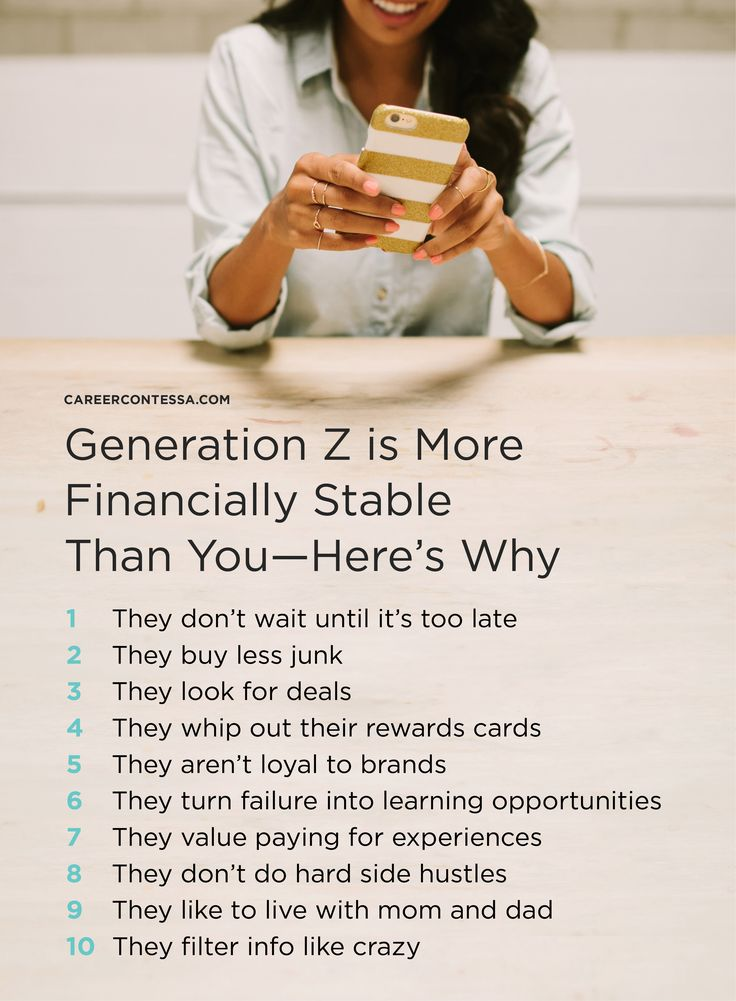 They may be the most recent generation to join the workforce, but one thing's for certain: they're taking this whole financial stability thing pretty seriously. Say hello to Generation Z, our youngest money experts.