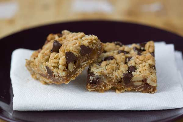 caramel filled oatmeal walnut bars   A Balanced Diet is a Cookie in E ...