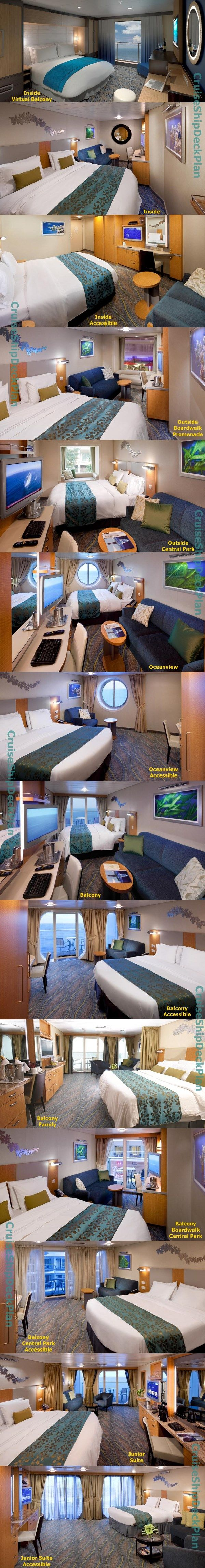 Royal Caribbean Allure of the Seas cabins photos