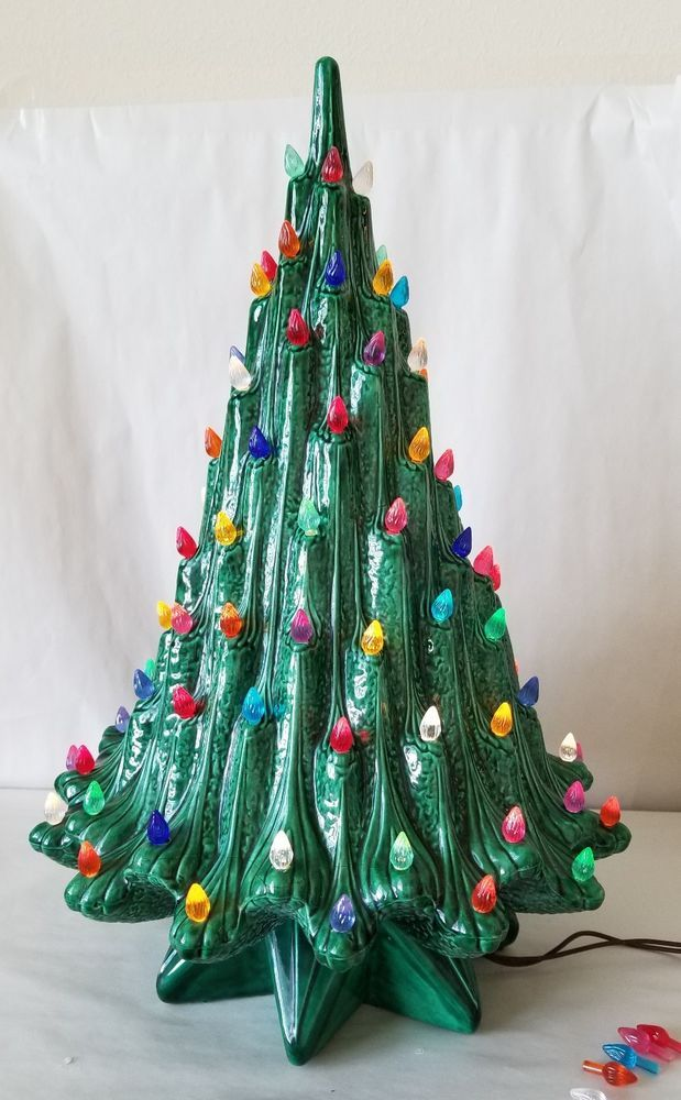 Details About Loop Handle Glitter Candle Bulbs 20 Ceramic Christmas