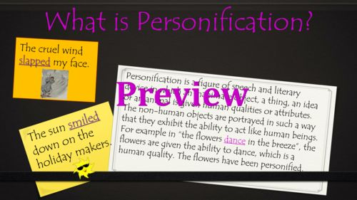 Personification PowerPoint Lesson - 25 Slides