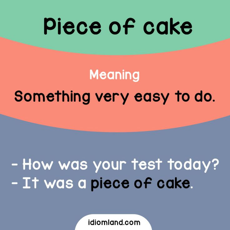 What is a piece of cake for you? #idioms #english #learnenglish