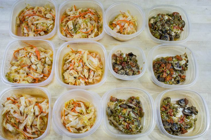"""Cabbage Sauteed with Chicken Healthy One-Dish """"Smothered"""" Chicken Mason Jar Salads Banana Bread Muffins 2 Types of Protein Balls Healthier Cinnamon Bread Breakfast Burritos and some Turkey and Bean Burritos! Meal prep done! #mealprepping #OneSimpleChange #mealprep #healthy #mealplanning #healthyliving #food #weightloss #sunday"""