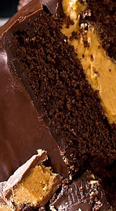 Buckeye Layer Cake ... Chocolate cake with peanut butter buttercream filling and chocolate ganache frosting .... Chocolate peanut butter cake