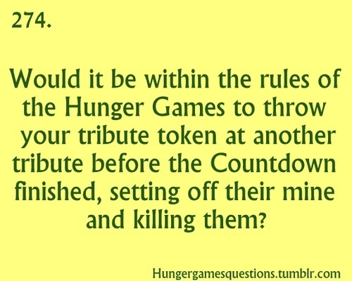 HAHAHHAHA.. Whoever thought of this... I love you. I would sooo do this! it's not against the rules, cause there's only ONE rule.