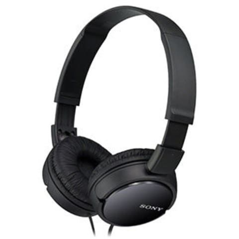 Get in the groove with the MDR-ZX110B Studio Monitor Series headphones. These high-performance headphones from Sony feature a supra-aural design and cozy earpads for excellent listening comfort. The headphones have a compact design for portability yet affording listening flexibility, the swivel, folding earpads let you enjoy music in many ways. <h5>Headphone Features</h5><ul> <li>Dynamic 30mm drivers</li> <li>Swivel, folding design for easy stora...