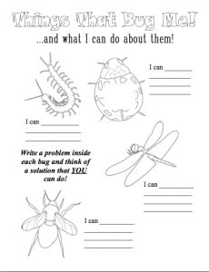 Coping skills worksheets