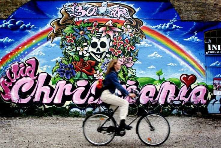 Christania, Denmark   | http://theincredibletide.files.wordpress.com/2012/07/christiania-biking.jpg