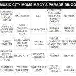Thanksgiving Parade Bingo 2016
