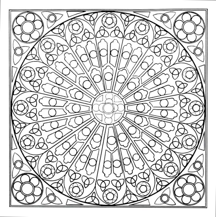 190 best Coloring Pages Mandalas images on Pinterest Coloring