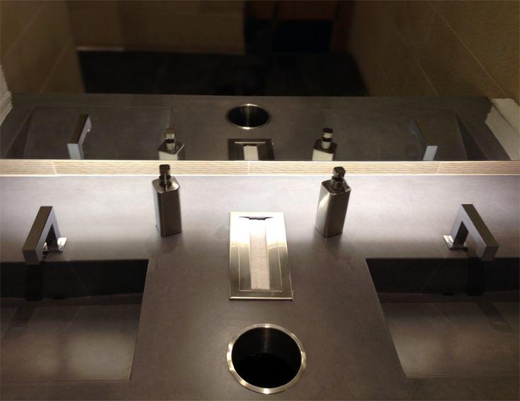 concrete sinks trueform concrete custom work concrete bathroomconcrete sinkconcrete designbathroom - Concrete Bathroom Decoration