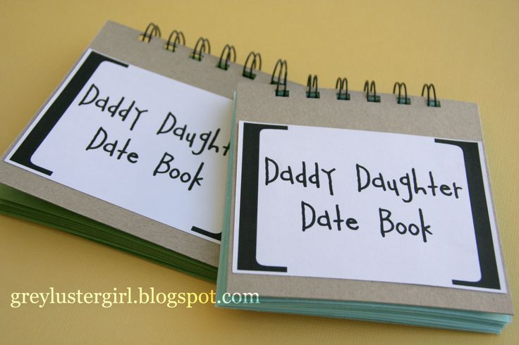 Daddy Daughter Date Book - great fathers day gift! A page to write the date, a little blip about what you did and pic from each date.