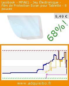 Lexibook - MFA61 - Jeu Électronique - Film de Protection Ecran pour Tablette - 8 pouces (Jouet). Réduction de 68%! Prix actuel 9,49 €, l'ancien prix était de 29,21 €. http://www.adquisitio.fr/lexibook/lexibook-mfa61-jeu