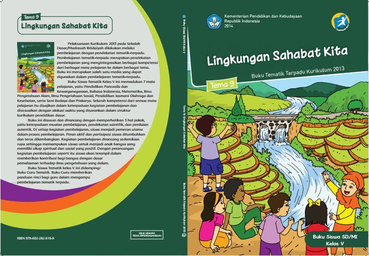 Download Buku Tematik Kurikulum 2013 SD/MI Kelas 5 Tema 9 Lingkungan Sahabat Kita Edisi Revisi Format PDF