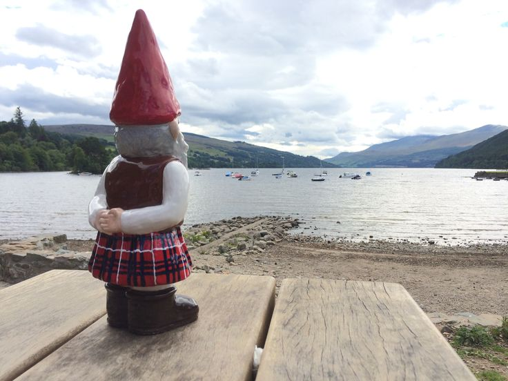 MacGnome looking out onto Loch Tay at Kenmore, Perthshire