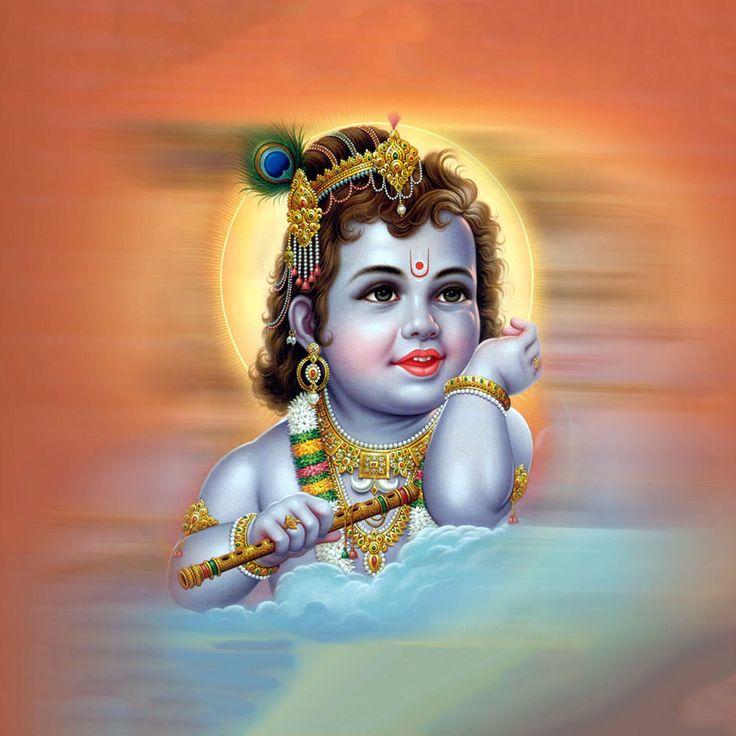 Bébé Krishna avec Peinture Flûte - Reproductions par Raghuraman   Acheter Affiches, Cadres, toile & Digital Art Prints   Petit, compact, moyen et variantes grandes