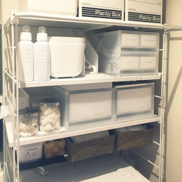 99  手作りラベル/無印良品/収納/ランドリーラック/バス/トイレのインテリア実例 - 2014-10-20 16:37:14   RoomClip(ルームクリップ)