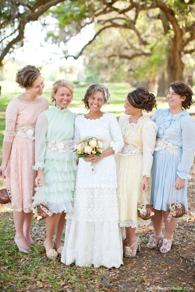 Very unique bridesmaids dresses.   http://www.thebridelink.com/blog/2013/01/09/south-carolina-wedding-by-watson-studios-photography/