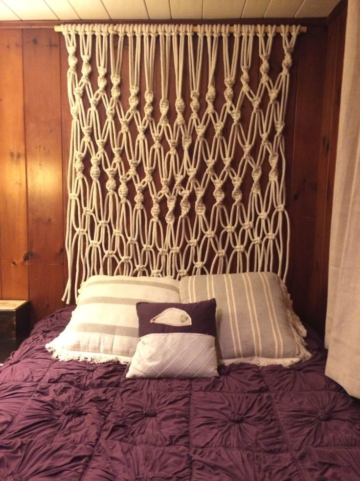 Large Macrame Wall Hanging or Headboard by bmaryleedesign on Etsy…