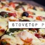 Stovetop Pizza, from scratch.