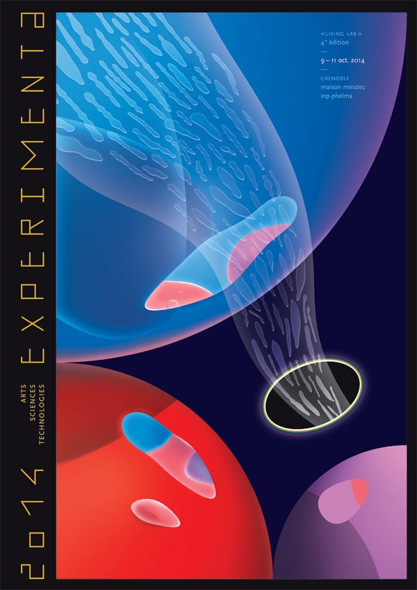 Poster of experimenta exhibition 2014 art sciences technologies grenoble france