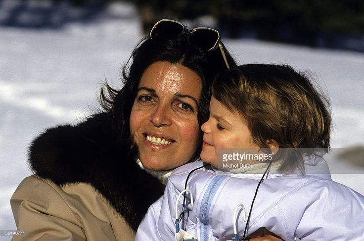 Christina Onassis, daughter of Greek shipping magnet Aristotle Onassis, is seen with her daughter Athina in St. Moritz, Switzerland.