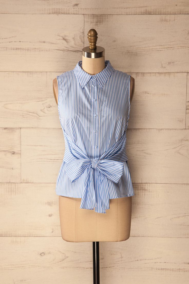 Sassello #Boutique1861 / Baby blue tied blouse will match perfectly with shorts !