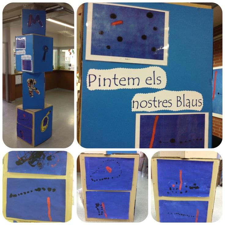 Exposició treball de Miró dels nens i nenes de p3!