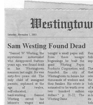 Samuel Westing is dead!