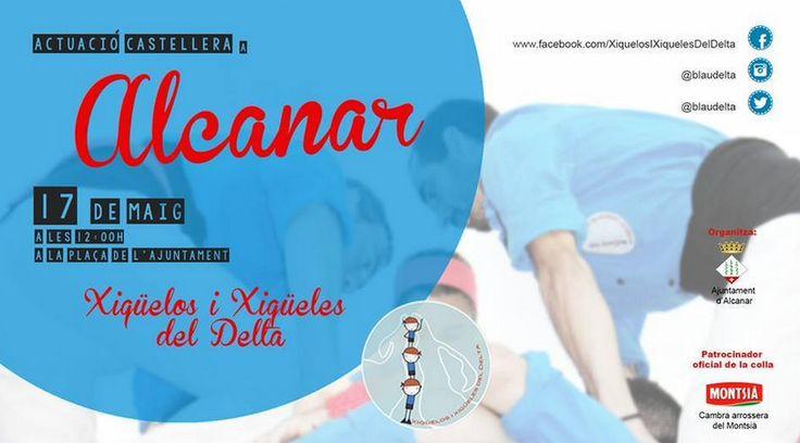 Actuació aquest diumenge a Alcanar #castellers