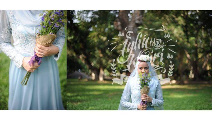 Blue Wedding Dress. #kariyaya #malaywedding #reception