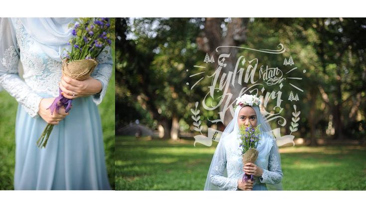 Blue Wedding Dress. #kariyaya #malaywedding #reception