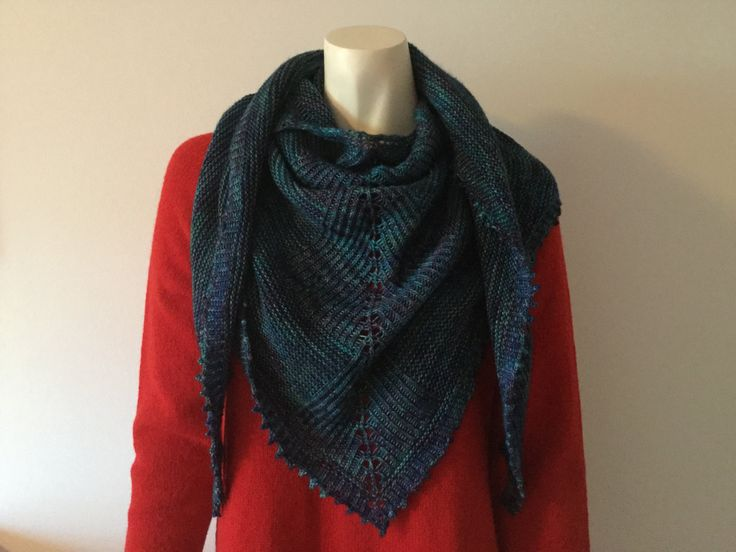 Hand knitted shawl/scarf knitted with madelinetosh tosh merino light - pinned by pin4etsy.com