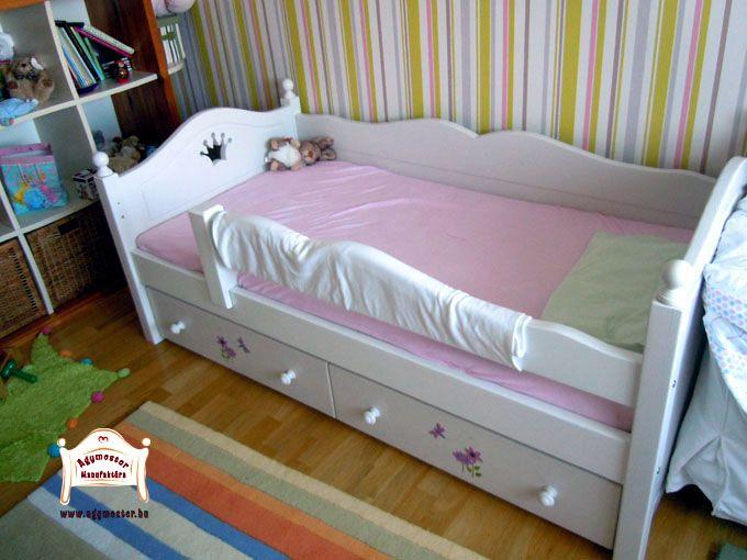 Bonita ágy 80x160cm matracméretben egyedi díszítésekkel