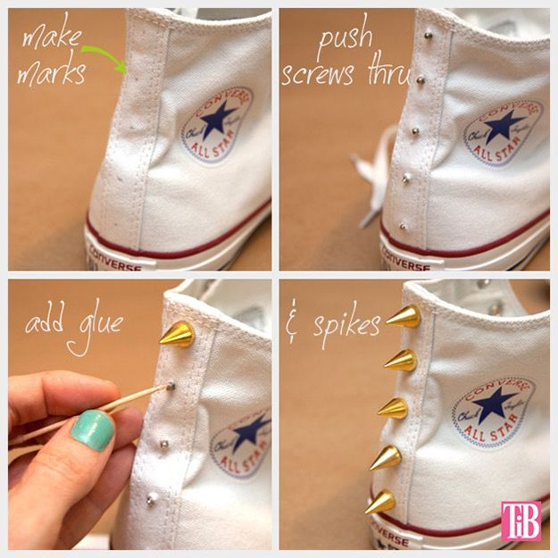 This is fun to do to if you want to add some flare to your shoes