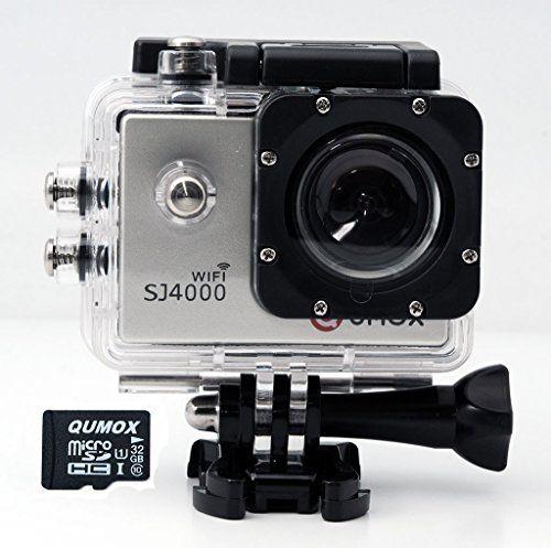 QUMOX WIFI Actioncam SJ4000 Action Sport Kamera Camera Waterproof Full HD 1080p Video Helmkamera Silber + 32GB micro SD | Your #1 Source for Camera, Photo & Video