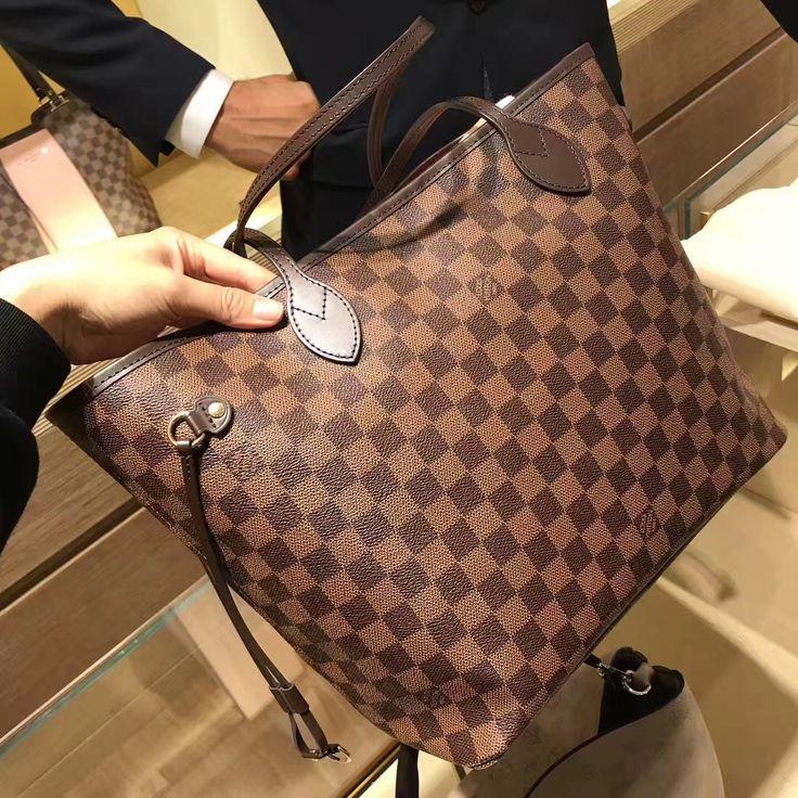Louis Vuitton Damier Ebene Canvas Neverfull MM Bag N41358