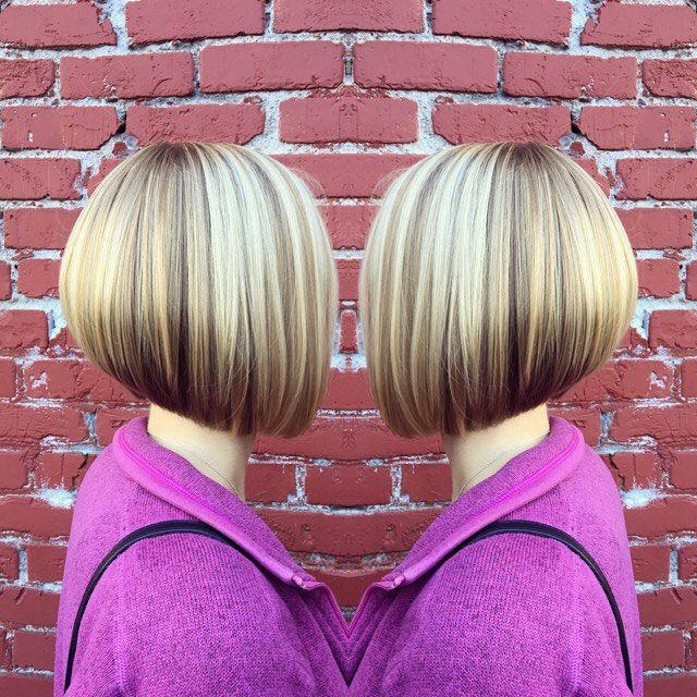 WEBSTA @ kasalonpdx - Dimension, depth and shape! Loved creating this beautiful dimensional color paired with a fun a-line bob. Text 503-440-5225 to book your next style! #hairgoals #haircut #haircolor #behindthechair #cosmoprof #modernsalon #hairbrained #hair #hairstyle #hairstylist #bob #alinebob #paulmitchell #wella #olaplex #salon #sola #portland #highlights #blonde #blondehair