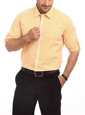 Color Plus is a world famous brand well known for its quality products and unique designs. Keeping its tradition intact it introduces this medium yellow colored men�s formal shirt. The bright colored shirt can be best matched along with a dark colored trouser. It will make you look more professional and elegant. The shirt is made up of 100 percent cotton which gives you higher level of comfort even when you wear it for a longer hour. It has a slim fit design which suits to all kind of body…