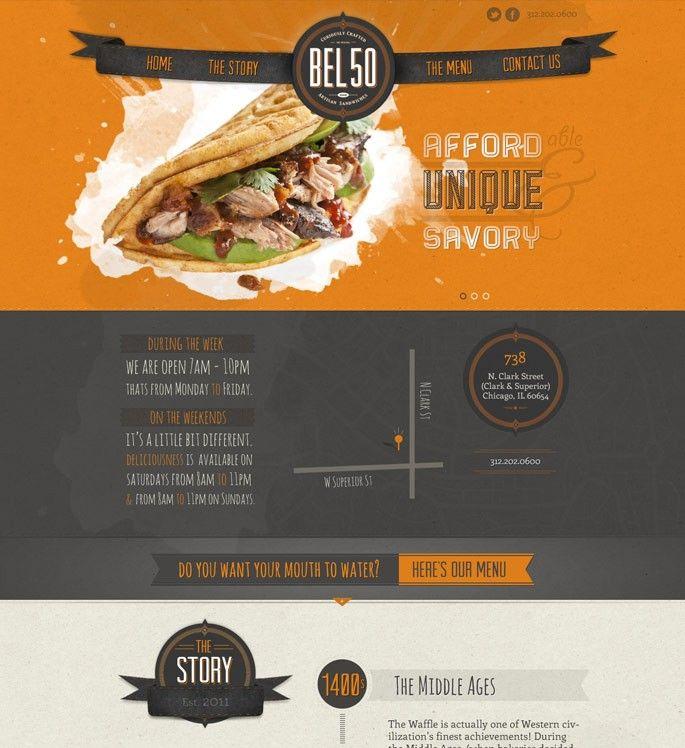 Restaurant Design Companies Chicago : Best images about web design inspiration on pinterest