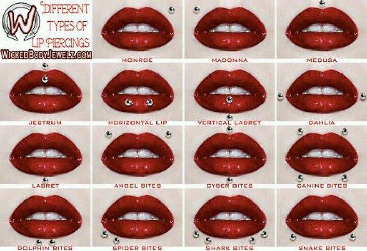 Lip piercings that I really like/want: snake bites, monroe, medusa, labert, vertical labert , and jestrum