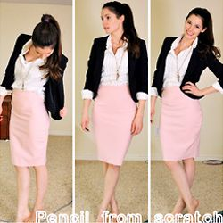 Easy tutorial for a pencil skirt! (from Cotton & Curls)  stylegawker.com