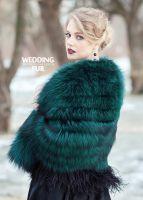#fox #fur #wedding #bride #color #designer #back #wedding #dress #bride #spring #russian #girl изумрудная меховая #накидка на вечернее платье для невесты #emerald #colorful #fashionstyle #luxurylife #lifestyle
