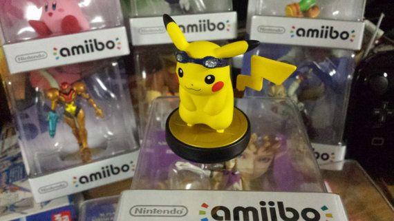 Custom Pikachu Amiibo Googles by Makeyourmark3D on Etsy - accessorize!!