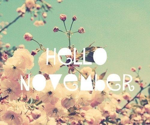 ¡Bienvenido Noviembre! 😍🌟💖🌺🌹